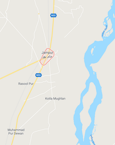 Map of Jampur, Dera Ghazi Khan