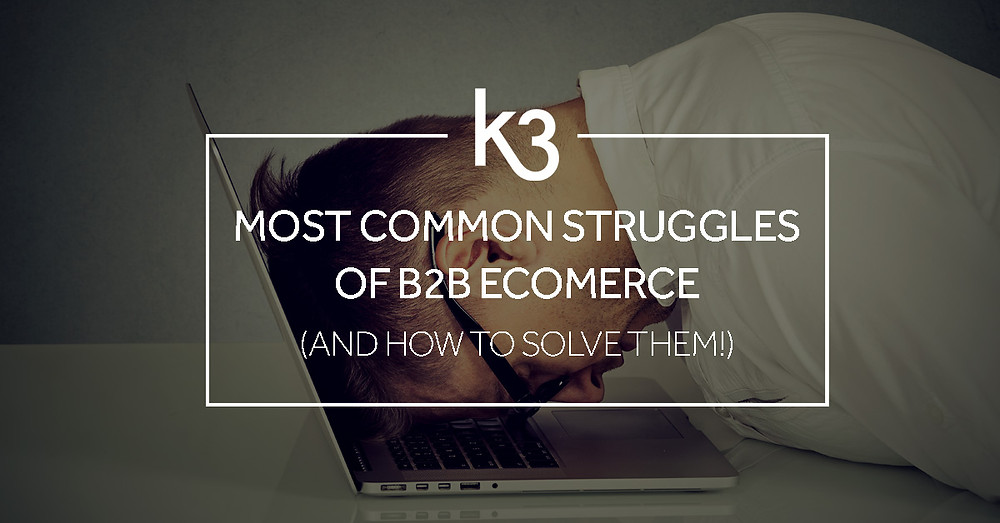 most common struggles OF b2b ecommerce and how to solve them