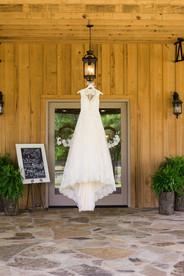 wedding dress auburn bride