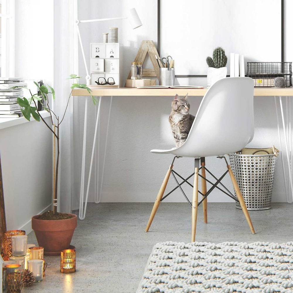 home office desk by Hairpin Leg Co