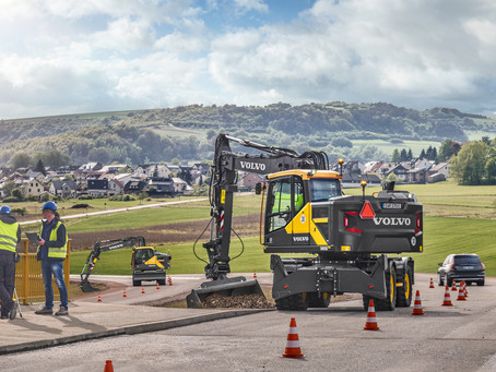 New Volvo Wheeled Excavators Available through HGACBuy & Sourcewell