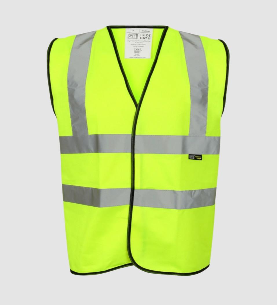 High visibility vest.