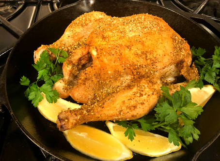 Favorite Roast Chicken with Zahtar and Lemon