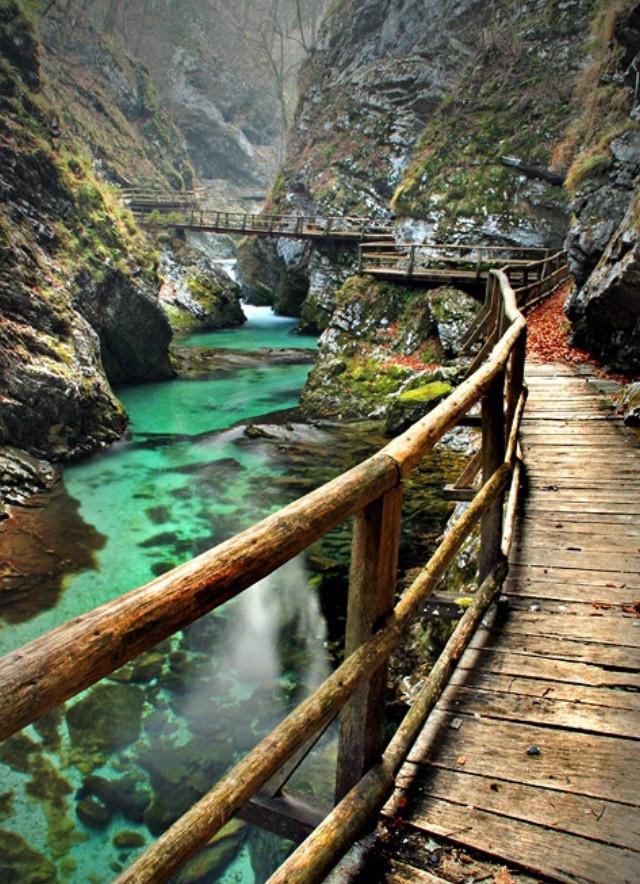 vintgar gorge slovénie
