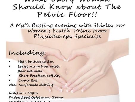 Women' s Health Pelvic Floor Myth Buster Evening returns on Zoom