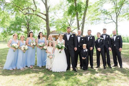 wedding party outdoor portraits auburn