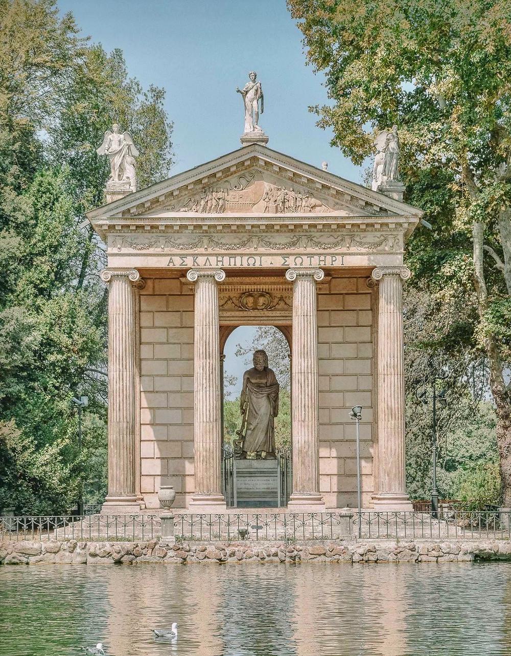 Temple of Diana in the Villa Borghese Gardens