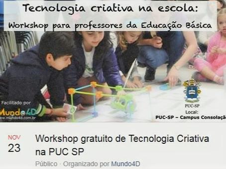 Workshop de Tecnologia Criativa para Professores – SP