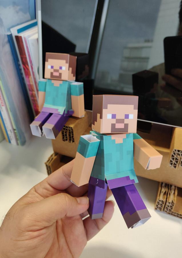 Minecraft Paper Toy