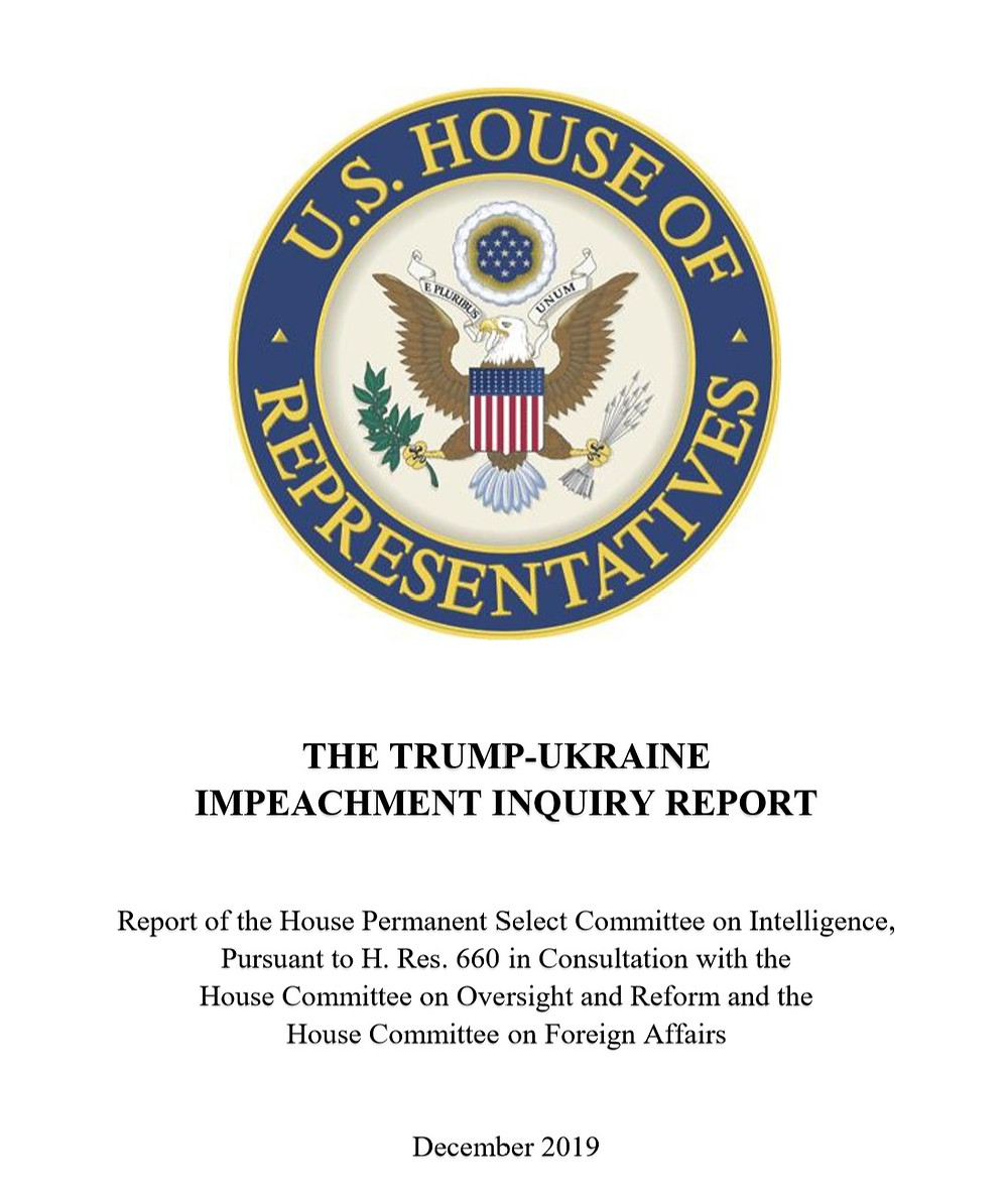 a snip of the report's cover page, with the US House of Representatives seal