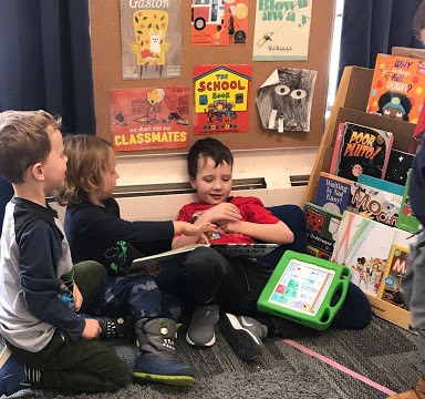 early intervention student visits general education classroom
