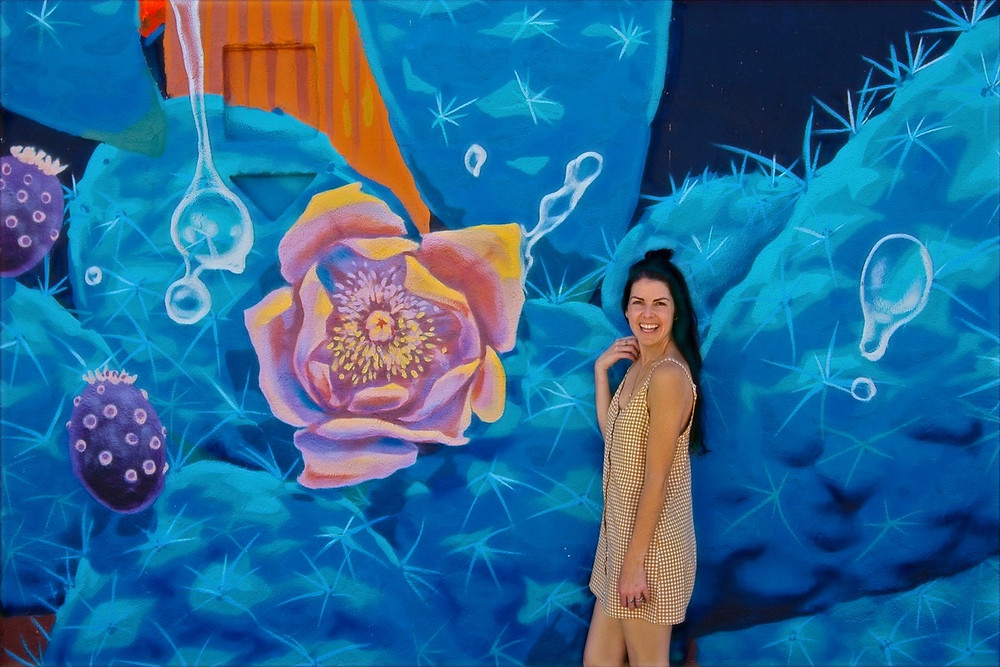 Rock Martinez mural in Tucson; Goddess of the Agave