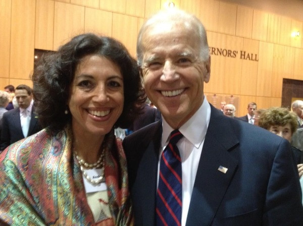 Andrea Tinianow with Joe Biden