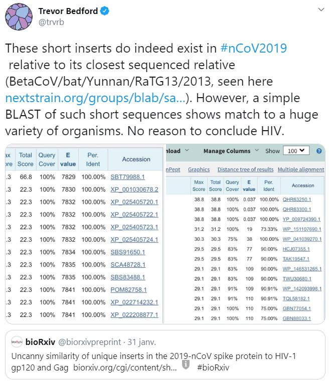 Coronavirus et HIV