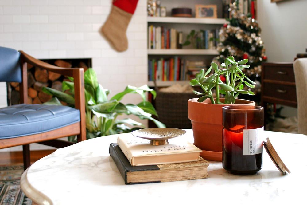 A shot of the Figueroa house at Christmas.