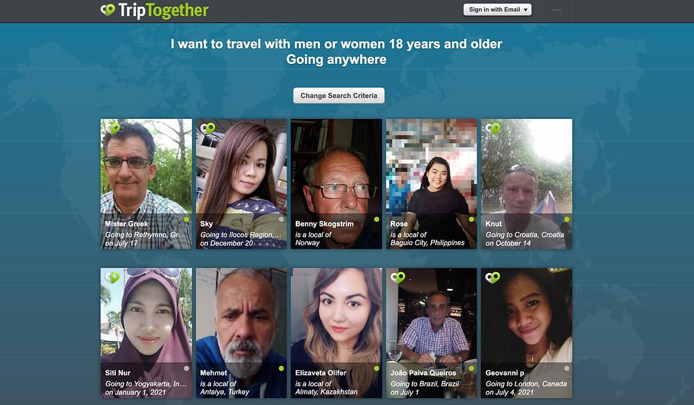 trip together - find travel buddy
