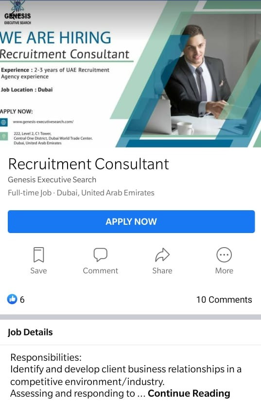 Details of job