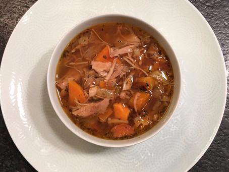 Easy Peasy, Hearty Turkey Soup(y)
