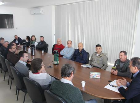 Reunião debate segurança pública no município