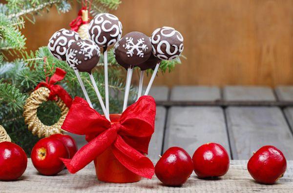 Vánoční čokoládové kuličky z tvarohu