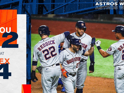 Big Bats Help Reduce Astros Magic Number To One