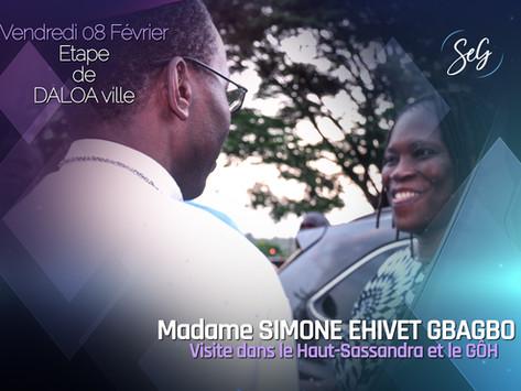 DALOA : MADAME SIMONE EHIVET GBAGBO DANS LA CAPITALE DE LA RÉGION DU HAUT SASSANDRA