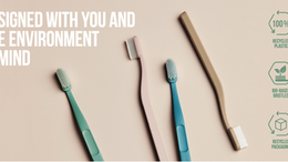JORDAN'S green clean rated top sustainable toothbrush.