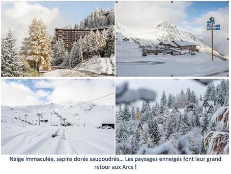 Premières neiges aux Arcs, ski garanti pour les fêtes