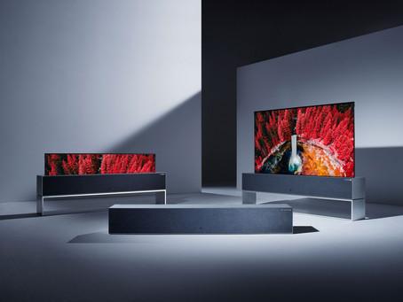 LLega el primer televisor que se enrolla como una persiana