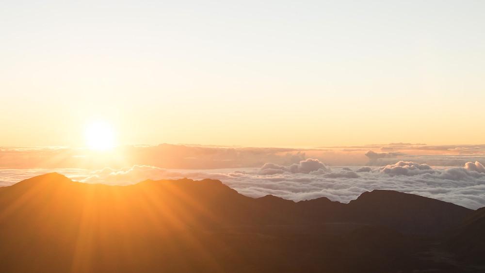 Sunrise over Maui's Haleakala crater