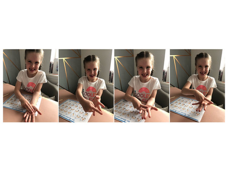Mila in 1TM has been busy learning British Sign Language. Here she is spelling her name.