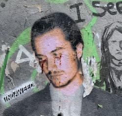 tears of blood street art Valparaiso Chile