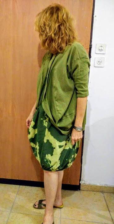 Olive green t shirt bolero