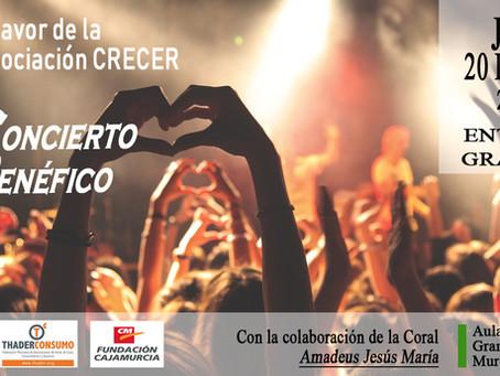 Concierto Benéfico a favor de CRECER ( Murcia, Jueves 20 dic. 2018 )