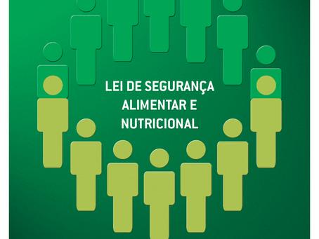 15 de setembro de 2020 – 14 anos da Lei Orgânica de Segurança Alimentar e Nutricional – LOSAN
