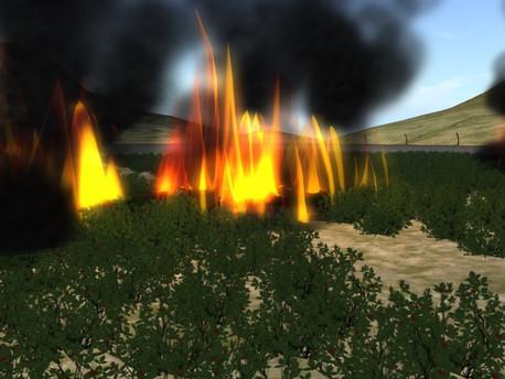 Explosions and fire rock San Verdan