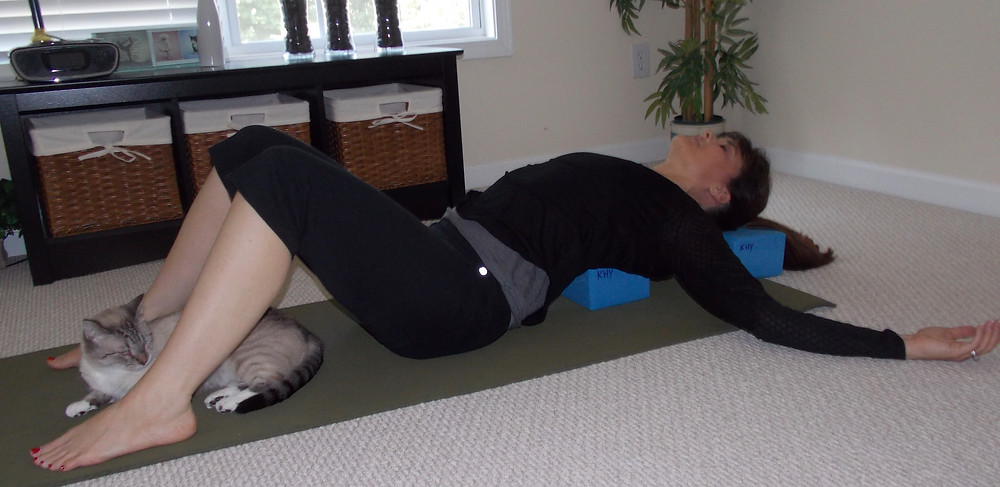 Supported Fish Yoga Pose