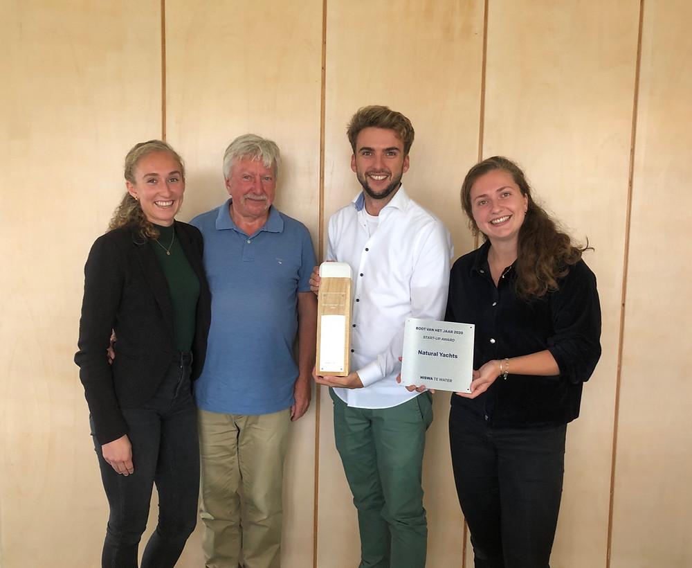 Natural Yachts Gewinner 'Boat of the year – Start-up award 2020'