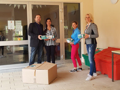 Mask donation for the primary school in Stahnsdorf