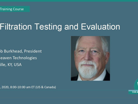 Air Filtration Testing and Evaluation -June 30
