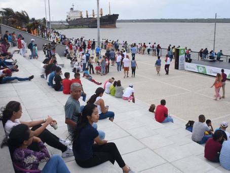 Con bandera humana Barranquilla llega a sus 206 años este domingo