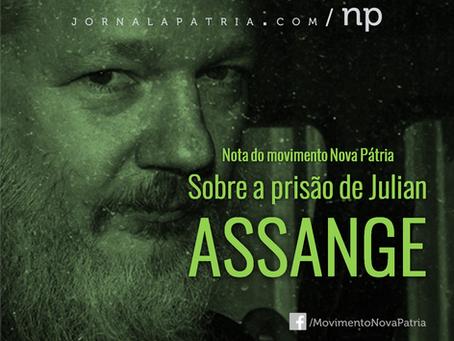 Nota do movimento Nova Pátria sobre a prisão de Julian Assange