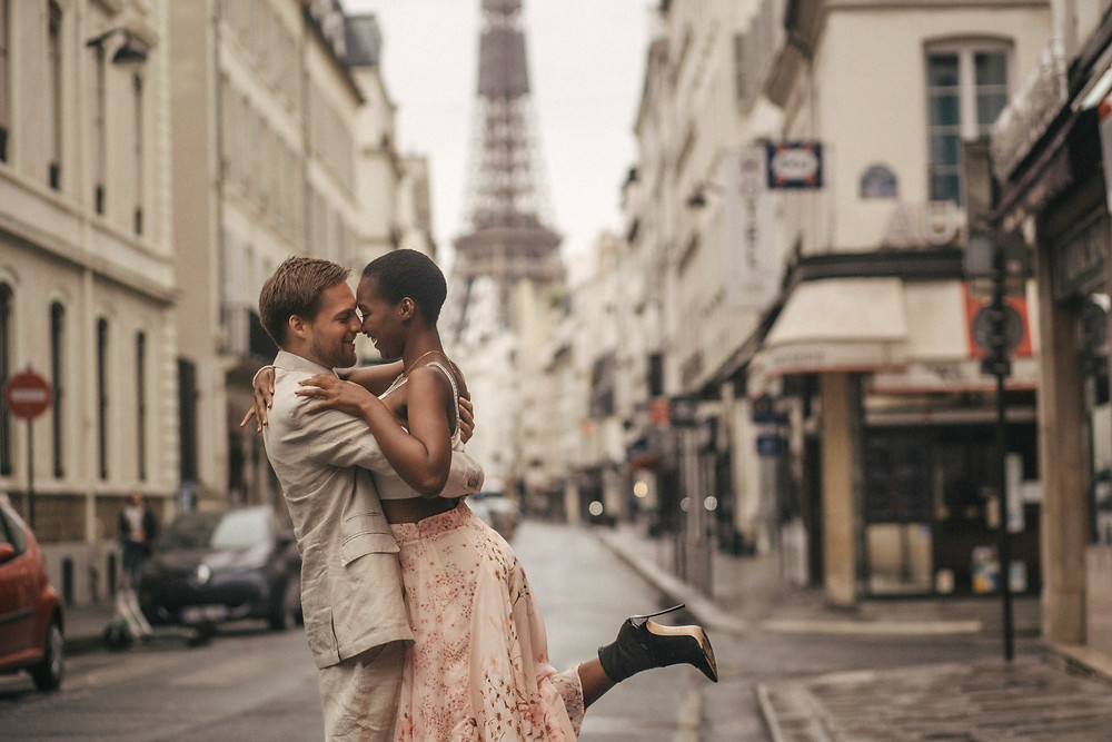 Interracial Couples Photography at Eiffel Tower