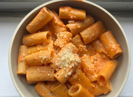 Quick & Easy Vegan Recipe Meal Idea: Spicy Vodka Rigatoni