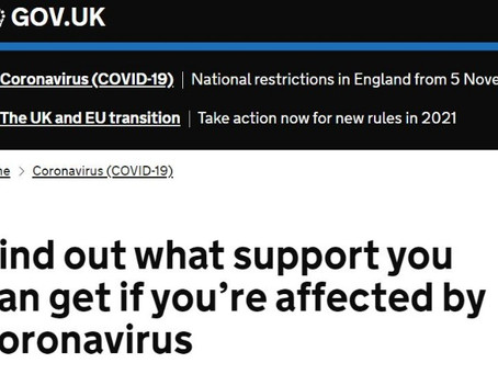 Government Coronavirus support as it stands