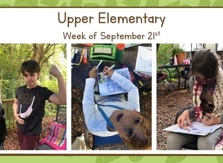 Upper El, Week of 9/21-9/25