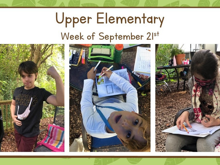 Upper El, Week of 9/21-9/25