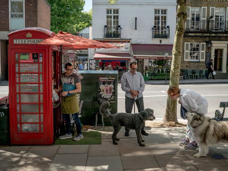 電話亭做生意?