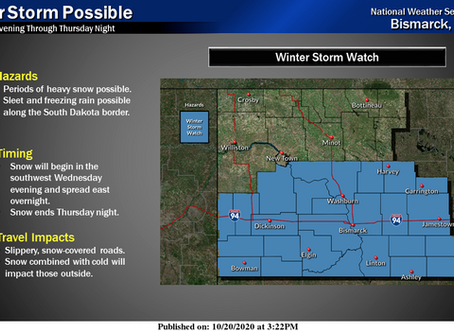 Winter storm to impact Northern Plains tomorrow