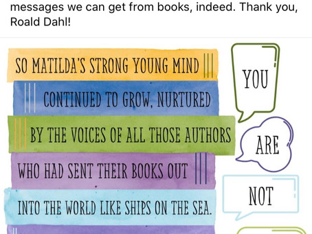 """Author Roald Dahl """"You are not alone"""""""